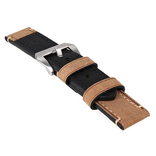 bqlzr-brown-22mm-vintage-mens-genuine-leather-replacement-watch-strap-band-stainless-steel-buckle