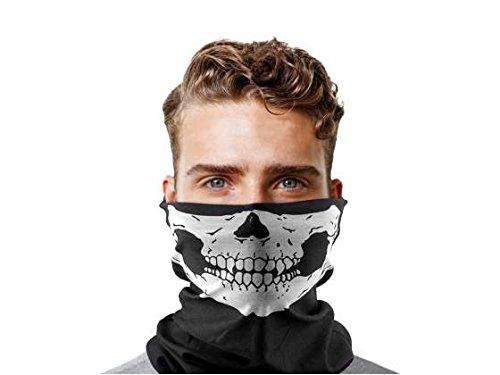 Ducomi® Skull Scaldacollo Elasticizzato Unisex in con Stampa Teschio, Ideale Protezione Contro Freddo, Vento, Polvere e Raggi UV (1)