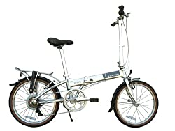 Dahon Mariner D7 Folding Bike, Brushed by Dahon
