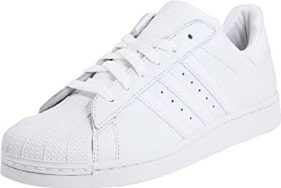 adidas Originals Superstar 2 Sneaker (Little Kid/Big Kid),White/White/White,3.5 M US Big Kid
