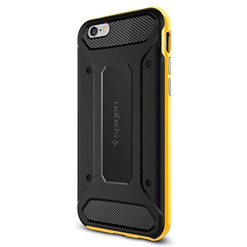 Spigen iPhone6s ケース / iPhone6 ケース, ネオ・ハイブリッド カーボン  [ 二重構造 TPU カーボンテクスチャー ] アイフォン6s / 6 用 米軍MIL規格取得 (レベントン・イエロー SGP11622)