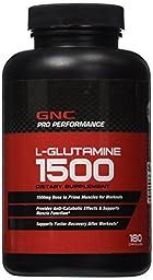 GNC Pro Performance L-Glutamine 1500 180 Capsules