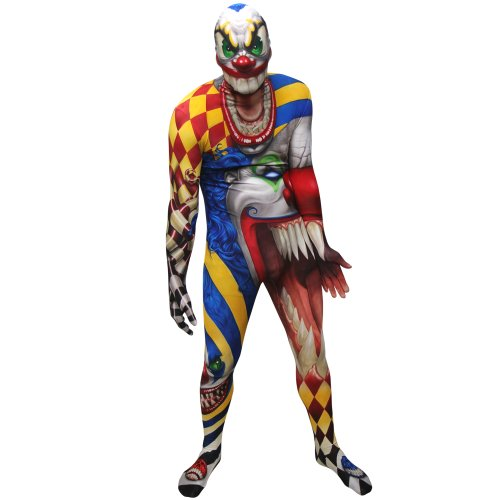Morphsuits Monster Scary Clown, Multi, Plus Skinsuit