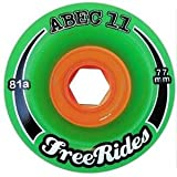 ABEC 11 FreeRides 77mm Longboard Wheels x4