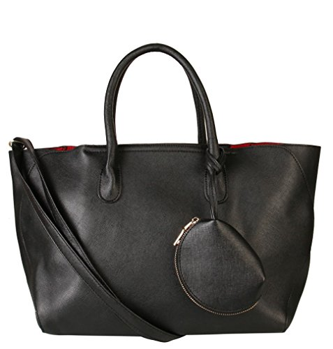 rimen-co-saffiano-pu-leather-large-capacity-tote-handbag-with-mini-coin-bag-sz-2637-black