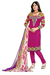 Nilkanth Enterprise Rani Pink Dress Material
