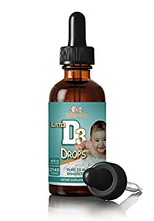 buy Vitamin D Drops - 400Iu D3 / Drop - All Natural D3 In Mct Base For Enhanced Absorption - Easy To Use Bulb Dropper - Over 2000 Standard Doses. Usa Made.