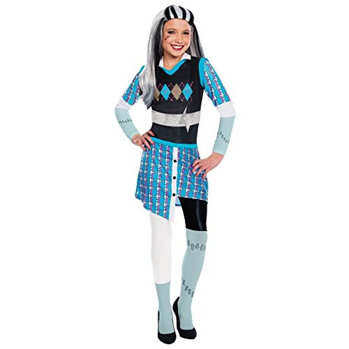 [GSG Frankie Stein Costume Kids Monster High Halloween Fancy Dress] (High Priest Zombie Costumes)