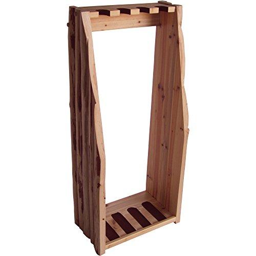 Find Discount Rush Creek Solid Rustic Wood 4 Gun Floor Rack