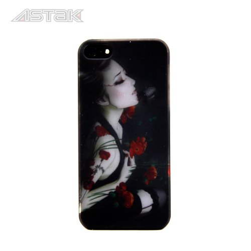 Stunning Inked Girl Series Tattoo Art Design, Variety Of Sexy Cases With Devil Tattooed Girls With Snakes, Dragons, Flowers, And Butterfly'S Protective Snap-On Hard Plastic Back Case Cover For Iphone5/ 5S (Tattoo Girl With Red Flowers)