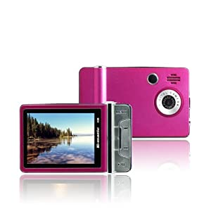 XO Vision Ematic 4 GB Video MP3 Player with 2.4-Inch Screen, Built-in 5MP Digital Video Camera, FM Radio, TV Out, and Speaker (Pink) at Sears.com