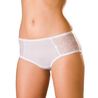 Damen Panty - mit Spitzenbesatz & Netzstoff - Blümchen - Größen 38-48 from Camille
