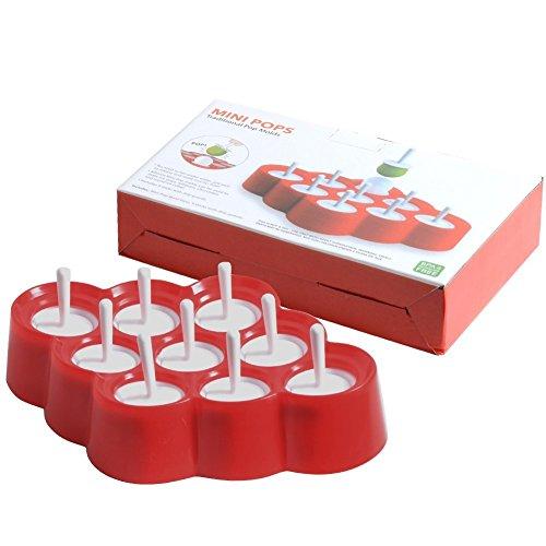 chichic 9cavità in silicone mini diy Ice Pop Maker, Popsicle Molds, Macchina per gelato, Lollipops Molds, cioccolato Stampi, Stampi per Dolci per neonati, bambini, senza