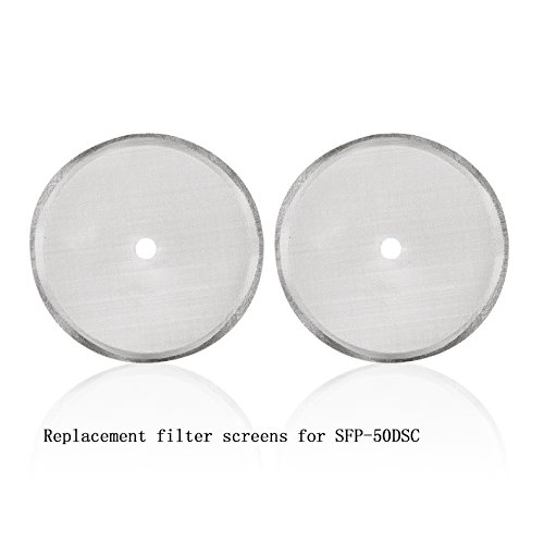 Replacement Stainless Steel Screen Filter Mesh for Secura 1500ML/50-Ounce, French Press Coffee Maker SFP-50DSC, 2PK