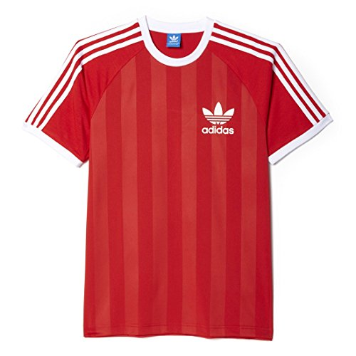 Adidas California Tee T-Shirt da Uomo, Rosso, L