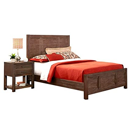 Barnside Bed and Night Stand Quen