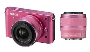 Nikon J2 VR 10-30 mm + VR 30-110 mm Kit Appareil Photo Numérique Compact 10.1 Mpix Rose