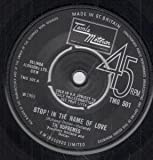SUPREMES stop! in the name of love / i'm in love again 45 rpm single