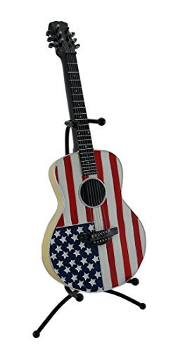 American Flag Guitar Bank with Metal Stand