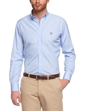 Daniel Cremieux - Chemise Habillée - Homme - Bleu (Blue & White Stripe) - Small
