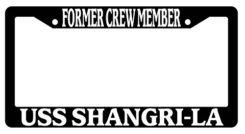 former-crew-member-uss-shangri-la-black-plastic-license-plate-frame-navy-178