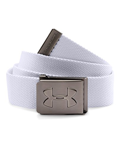 Under Armour Boys Webbing Belt, White (100), One Size