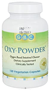 Oxy-Powder Intestinal Cleanser - 120 Vegetarian Capsules - Packaging May Vary