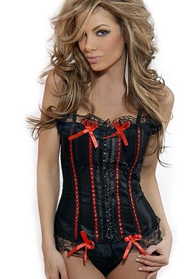 Ribbon And Bows Burlesque Corset