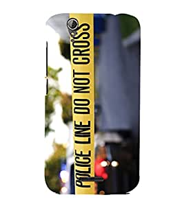 Snapdilla Police Line Do Not Cross Cool Quote Impressive Cop Warning Phone Case for Acer Liquid Z630 :: Acer Liquid Z630S