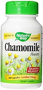 Nature's Way Chamomile Flowers ,  350 mg, 100 Capsules