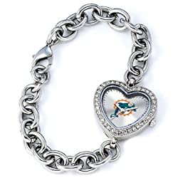 Miami Dolphins Gametime Heart Bracelet/Watch