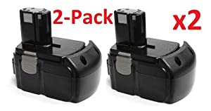 2 Pack of Hitachi BCL1815 Power Tool Replacement Battery [18V, 3.0Ah, Li-ion] Tech Rover™ Max-Life Series (Pack of 2)