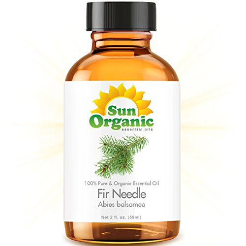 Organic Fir Needle (2 Fl Oz) Essential Oil 100% Pure -- Best 2 Ounces (59Ml) -- Sun Organic