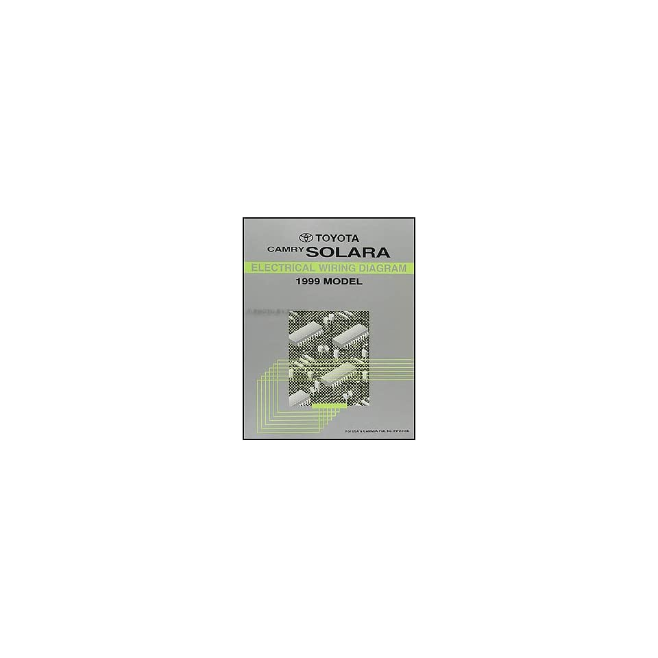 1999 Toyota Camry Solara Wiring Diagram Manual Original Books