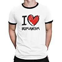 I love Humanism chalk style Ringer T-Shirt