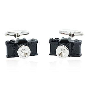 Cuff-Daddy Black Camera Cufflinks