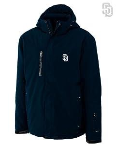 San Diego Padres Mens WeatherTec Sanders Jacket Navy Blue by Cutter & Buck