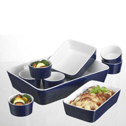 Home Essentials 9-pc Bakeware Set, White/Blue