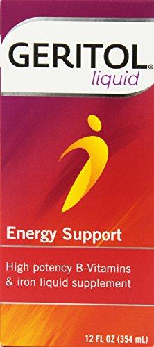Geritol liquid Energy support High potency B-Vitamin & Iron liquid supplement,12-Ounce (354 ml) (Pack of 3)