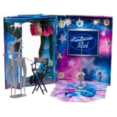 Barbie Year 2004 American Idol Series Accessory Set - Show Stage with 3 Tops, 1 Pants, 1 Vanity Table, 1 Chair, 1 Pair of Boots and Lots More of Small Accessories (Doll Sold Separately) - 1
