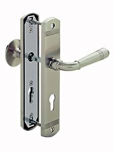 Türbeschlag Scarlet WE 72 mm Nickelmatt Kn/Dr Wohneingangs - Türbeschlag Türgriffe Türklinke