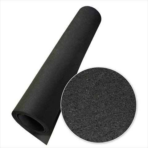 Rubber Cal Elephant Bark Floor Mat, Black, 3/16-Inch x 4 x 10-Feet