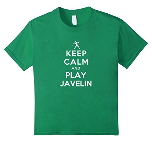 Keep calm and play javelin t shirt kids 12 kelly green for Meadowood mall custom t shirts