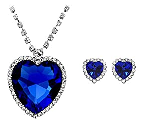 Buy The Famous Titanic Blue Sapphire Heart Pendant Necklace With ...