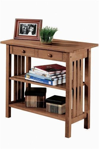 Image of Mission style Console Table With 2 Drawers (B0007TYTFG)