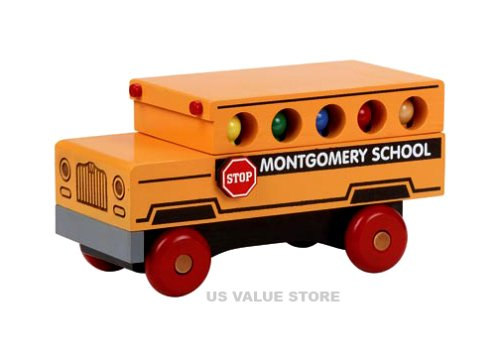 Classic School Bus - Buy Classic School Bus - Purchase Classic School Bus (Montgomery Schoolhouse, Toys & Games,Categories,Play Vehicles,Wood Vehicles)