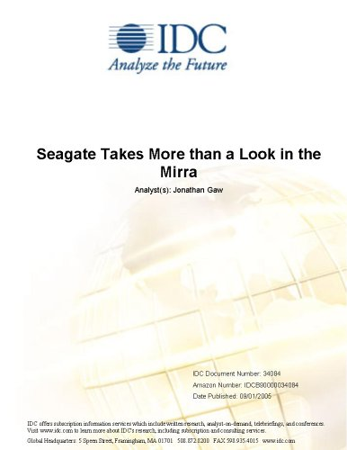 Seagate Takes More than a Look in the Mirra Jonathan Gaw