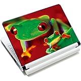 Luxburg® Design skin de protection sticker film autocollant pour ordinateur portable 10 / 12 / 13 / 14 / 15 pouces, motif: Deux grenouilles