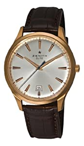Zenith Men's 18.2020.670/01.c498 Elite Captain Central Second Rose gold Silver Sunray Dial Watch from Zenith