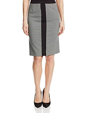 Jones New York Women's Framed Slim Skirt, Black/White, 12